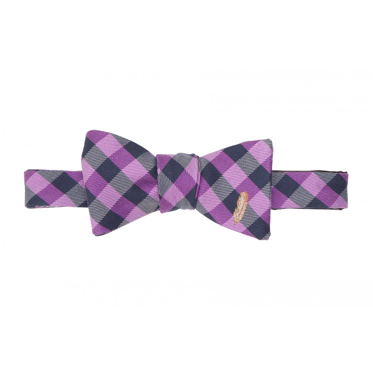 Feather Check Bow: Purple